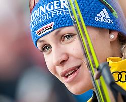 "19.01.2012, Südtirol Arena, Antholz, ITA, E.ON IBU Weltcup, 6. Biathlon, Antholz, Sprint Damen, im Bild Siegerin Magdalena Neuner (GER) // first Place for Magdalena Neuner (GER) during Sprint Women E.ON IBU World Cup 6th, ""South Tyrol Arena"", Antholz-Anterselva, Italy on 2012/01/19, EXPA Pictures © 2012, PhotoCredit: EXPA/ Juergen Feichter"