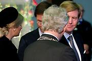 Nationale Herdenking voor de slachtoffers van vlucht MH17 in de RAI , Amsterdam.Vertrek van de gasten na afloop van de bijeenkomst<br /> <br /> National Memorial for the victims of flight MH17 in the RAI, Amsterdam.VThe guests leave after the meeting<br /> <br /> Op de foto / On the photo: Koning Willem-Alexander, koningin Maxima, burgemeester Ebenhard van der Laan en minister-president Mark Rutte <br /> <br /> King Willem-Alexander, Queen Maxima, Mayor Eberhard van der Laan and Prime Minister Mark Rutte