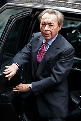 © Licensed to London News Pictures. 05/03/2016. London, UK. Andrew Lloyd Webber arriving at Rupert Murdoch and Jerry Hall's wedding ceremony at St Bride's Church in Fleet Street, London on Saturday, 5 March 2016. Photo credit: Tolga Akmen/LNP