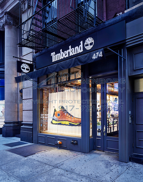 GreenStride by Timberland in New York City: Hudson Square, Soho and Queens Center Mall.  <br /> <br /> ©Photographed by John Muggenborg.<br /> http://www.johnmuggenborg.com