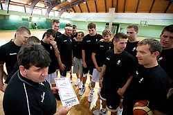 Head coach Memi Becirovic at practice session of Slovenia basketball team on media day on July 16, 2010 at Rogla sports center, Slovenia. (Photo by Vid Ponikvar / Sportida)