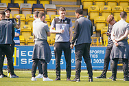 St Mirren players out on the park enjoying the sunshine   ahead of the Ladbrokes Scottish Premiership match between Livingston and St Mirren at Tony Macaroni Arena, Livingstone, Scotland on 20 April 2019.
