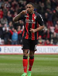 Bournemouth's Callum Wilson celebrates  - Photo mandatory by-line: Robbie Stephenson/JMP - Mobile: 07966 386802 - 14/03/2015 - SPORT - Football - Bournemouth - Dean Court - AFC Bournemouth v Blackpool - Sky Bet Championship