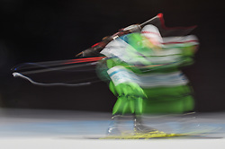 February 11, 2018 - Pyeongchang, Gangwon, South Korea - Anton Smolski of Belarus at Mens 10 kilometre sprint Biathlon at olympics at Alpensia biathlon stadium, Pyeongchang, South Korea on February 11, 2018. (Credit Image: © Ulrik Pedersen/NurPhoto via ZUMA Press)