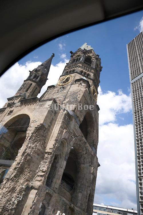 Berlin Kaiser Wilhelm Gedachtnis Kirche seen from the bus