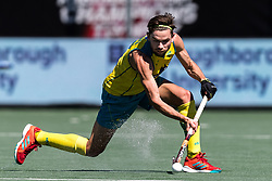 Flynn Ogilvie of Australia during the Champions Trophy finale between the Australia and India on the fields of BH&BC Breda on Juli 1, 2018 in Breda, the Netherlands.