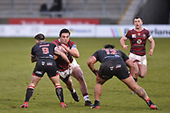 Liam Byrne (19) of Wigan Warriors in action during the game