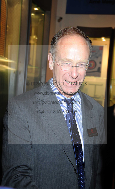 SIR ROBERT FINCH at the opening of the Royal Academy of Arts Byzantium 330-1453 exhibition held at the RA, Burlington House, Piccadilly, London on 21st October 2008.