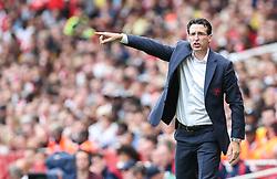 Arsenal manager Unai Emery gets animated - Mandatory by-line: Arron Gent/JMP - 28/07/2019 - FOOTBALL - Emirates Stadium - London, England - Arsenal v Olympique Lyonnais - Emirates Cup