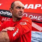 Leg 9, from Newport to Cardiff, day 02 on board MAPFRE, Xabbi Fernandez talking with rob. 21 May, 2018.