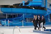 Koning Willem Alexander opent sportcomplex Hoofddorp