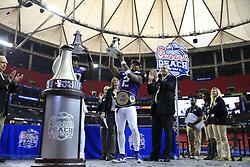 Dec 31, 2014; Atlanta , GA, USA; <br /> in the 2014 Peach Bowl at the Georgia Dome. Mandatory Credit: Paul Abell/CFA Peach Bowl via USA TODAY Sports