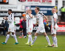 Falkirk's Aaron Muirhead at the end. Dunfermline 1 v 2 Falkirk, Scottish Championship game played 22/4/2017 at Dunfermline's home ground, East End Park.