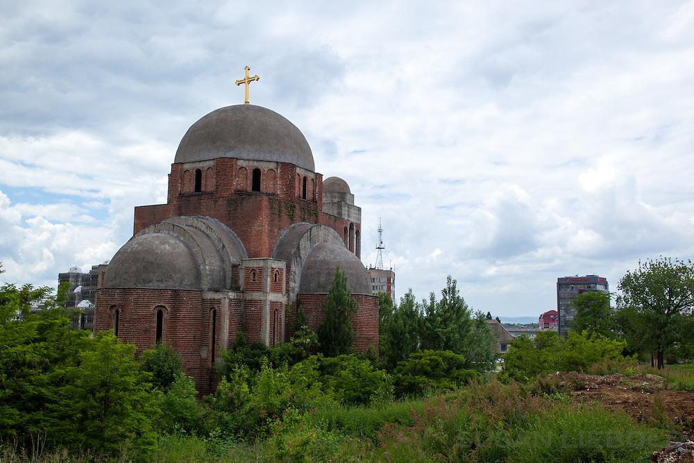 Church in Pristina, Kosovo.