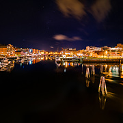 I have taken this panorama in 21 december around 01:00 am. When people where sleeping and dreaming I was thinking to make the dreams. In this picture  you can see one of the most busiest part of the town called Solsiden with a lot of cafee and bars. Very active and very beautiful.