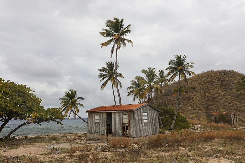 An abandoned shack on Salt Island in the BVI's.