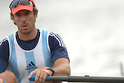 Amsterdam, HOLLAND, ARG M1X, Santiago FERNANDEZ, in his heat of the men's  sculls,  at the 2007 FISA World Cup Rd 2 at the Bosbaan Regatta Rowing Course. [Date] [Mandatory Credit: Peter Spurrier/Intersport-images]..... , Rowing Course: Bosbaan Rowing Course, Amsterdam, NETHERLANDS