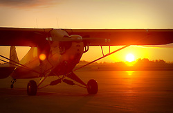 Piper Cub at sunrise, KMQJ
