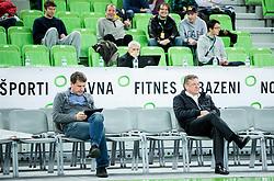Jani Moderndorfer and Zoran Jankovic during basketball match between KK Union Olimpija Ljubljana and BC Levski Sofia (BUL) in 12th Round of ABA League 2014/15, on December 13, 2014 in Arena Stozice, Ljubljana, Slovenia. Photo by Vid Ponikvar / Sportida