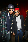 l to r: Coltrane Curtis and Mobolagi at The Vibe Magazine Presents Vsessions Live! Hosted by the Fabulous Toccara featuring Hal Linton, Suai and Ron Browz held at Joe's Pub on February 25, 2009 in NYC