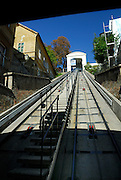 Funicular railway, Zagreb, Croatia. The Zagreb Funicular is the oldest public transport system in Zagreb, opening in October 1890