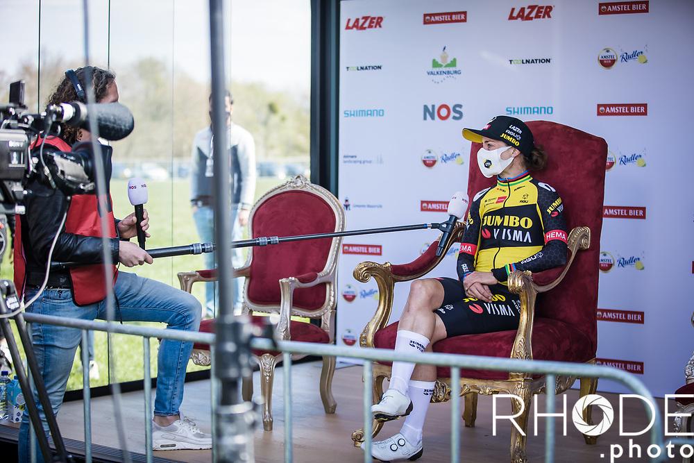Race winner Marianne Vos (NED/Jumbo-Visma) post race NOS interview<br /> <br /> 7th Amstel Gold Race Ladies Edition <br /> Valkenburg > Valkenburg 116km<br /> <br /> ©RhodePhoto