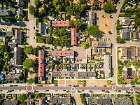 Aerial view of calm neighborhood area, Zutphen, Netherlands.