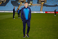 Wimbledon forward Joe Pigott (39) arrives during the EFL Sky Bet League 1 match between Coventry City and AFC Wimbledon at the Ricoh Arena, Coventry, England on 12 January 2019.