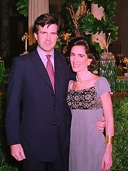 PRINCESS DEMETRA VON AUERSPERG-BREUNNER and her husband PRINCE KARL VON AUERSPERG-BREUNNER at a party in London on 25th November 1997.MDR 3