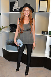LINDSAY LOHAN at the Prism Boutique Summer Party held at Prism, 54 Chiltern Street, London on 14th May 2014.
