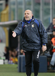 March 10, 2018 - Palermo, Sicily, Italy - Head coach Bruno Tedino of Palermo reacts during the serie B match between US Citta di Palermo and Frosinone at Stadio Renzo Barbera on March 10, 2018 in Palermo, Italy. (Credit Image: © Gabriele Maricchiolo/NurPhoto via ZUMA Press)