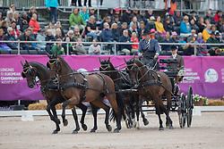 Chardon IJsbrand, NED, Baldun, Eddy, Senator, Winston E, Zion<br /> FEI European Driving Championships - Goteborg 2017 <br /> © Hippo Foto - Stefan Lafrenz