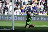 West Brom goalkeeper Ben Foster in action. Barclays Premier league match, Swansea city v West Bromwich Albion at the Liberty Stadium in Swansea, South Wales on Saturday 15th March 2014. pic by Andrew Orchard,  Andrew Orchard sports photography.