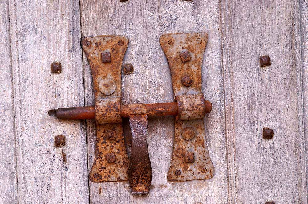 an old hasp lock chateau de rully burgundy france