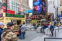 NEW YORK CITY- MARCH 25, 2018 : Joe Louis Plaza one of the main Manhattan Landmarks