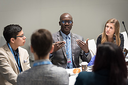 2 December 2019, Madrid, Spain: Isaiah Toroitich from ACT Alliance gives an introduction to Lutheran World Federation delegates on day one of COP25 in Madrid.