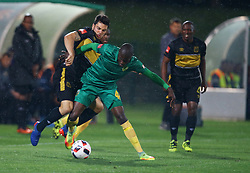 Lerato Lamola of Golden Arrows on the ball during the 2016 Premier Soccer League match between Golden Arrows and Cape Town City FC held at the Prince Magogo Stadium in Durban, South Africa on the 14th September 2016<br /> <br /> Photo by:   Steve Haag / Real Time Images