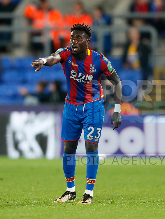 Crystal Palace's Pape Souare in action during the Carabao cup match at Selhurst Park Stadium, London. Picture date 19th September 2017. Picture credit should read: David Klein/Sportimage
