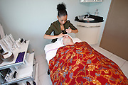 Royal Caribbean International's  Independence of the Seas, the world's largest cruise ship...Spa, treatment room.