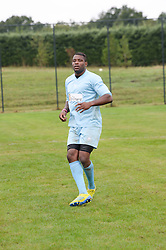 English international rugby union player UGO MONYE at the Ripley Football Tournament hosted by Irene Forte in aid of The Samaritans held at Ryde Farm, Hungry Hill Lane, Ripley, Surrey on 14th September 2013.  After the football guests enjoyed an after party.