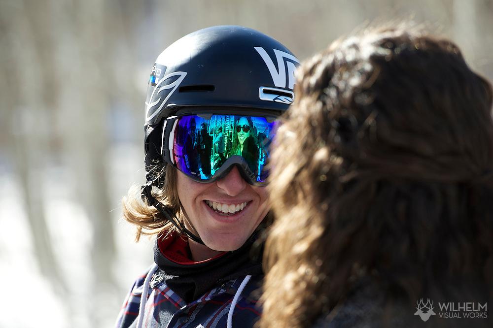 Eric Willett during Men's Snowboard Slopestyle Practice at the 2013 X Games Aspen at Buttermilk Mountain in Aspen, CO.  Brett Wilhelm/ESPN