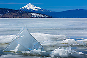 Upper Klamath Lake in southern Oregon with Mount McLoughlin in the distance