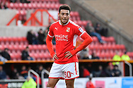Keshi Anderson (30) of Swindon Town during the EFL Sky Bet League 2 match between Swindon Town and Port Vale at the County Ground, Swindon, England on 17 February 2018. Picture by Graham Hunt.