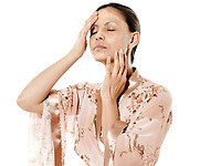 asian woman on isolated white background skincare woman
