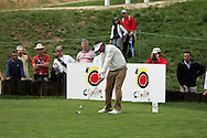 Darren Clarke takes his tee shot to the 18th hole of his second round in the Open de Espana in Madrid...Photo NEWSFILE/Manus O'Reilly.(Photo credit should read Manus O'Reilly/NEWSFILE)...This Picture has been sent you under the condtions enclosed by:.Newsfile Ltd..The Studio,.Millmount Abbey,.Drogheda,.Co Meath..Ireland..Tel: +353(0)41-9871240.Fax: +353(0)41-9871260.GSM: +353(0)86-2500958.email: pictures@newsfile.ie.www.newsfile.ie.FTP: 193.120.102.198..