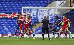 Joe Pritchard of Accrington Stanley shoots wide - Mandatory by-line: Arron Gent/JMP - 16/10/2020 - FOOTBALL - Portman Road - Ipswich, England - Ipswich Town v Accrington Stanley - Sky Bet League One