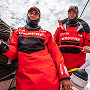 Leg 9, from Newport to Cardiff, day 04 on board MAPFRE, Xabi Fernandez and Pablo Arrarte. 23 May, 2018.