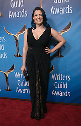 February 17, 2019 - Beverly Hills, California, U.S - Rachel Bloom in the red carpet of the 2019 Writers Guild Awards at the Beverly Hilton Hotel on Sunday February 17, 2019 in Beverly Hills, California. JAVIER ROJAS/PI (Credit Image: © Prensa Internacional via ZUMA Wire)