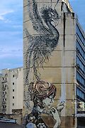 artworks and graffiti are common in Greek metropolitan areas; this building is in Thessaloniki