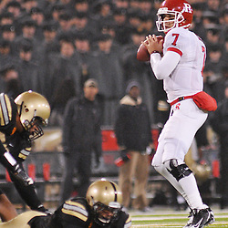 Oct 23, 2009; West Point, N.Y., USA; Rutgers quarterback Tom Savage (7) gets set to pass during Rutgers' 27 - 10 victory over Army at Michie Stadium.